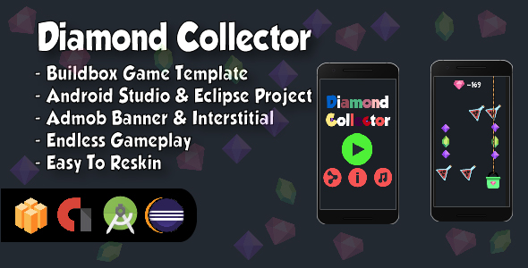 Diamond Collector - Android Studio and Eclipse Project and Buildbox Template            Nulled