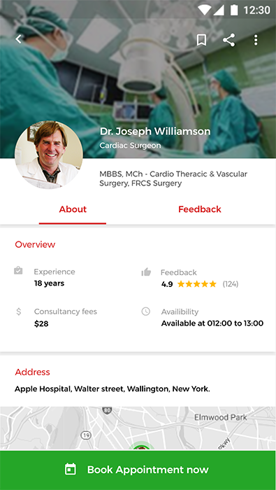 doctor appointment booking android   ios template  html