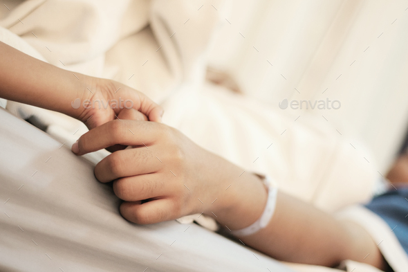 Hands of patients and relatives - Stock Photo - Images