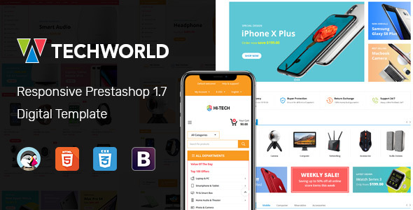 TechWorld - Responsive Prestashop Digital Theme - Technology PrestaShop