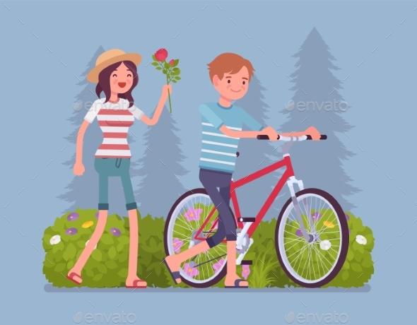 Couple in Park - Landscapes Nature