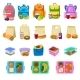 Vector School Lunchbox with Healthy Food - GraphicRiver Item for Sale