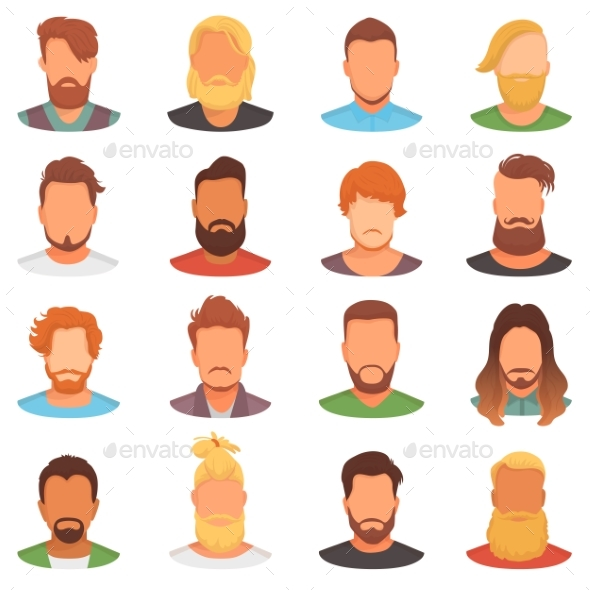 Portraits of Bearded Men - People Characters