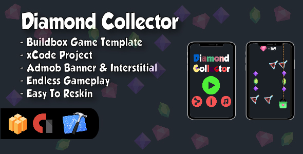 Diamond Collector – IOS xCode Project and Buildbox Game Template