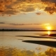 Beautiful Landscape with Sunset over River - VideoHive Item for Sale
