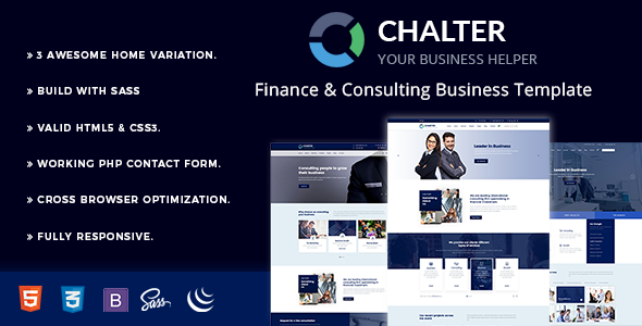 Chalter – Consulting Finance Business Template
