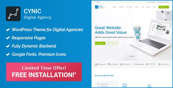 Image of Digital Agency WordPress Theme - Cynic