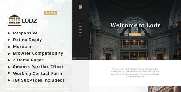 Lodz - Museum & Exhibition HTML Template