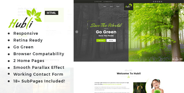 Image of Hubli - Environment / Non-Profit HTML Template
