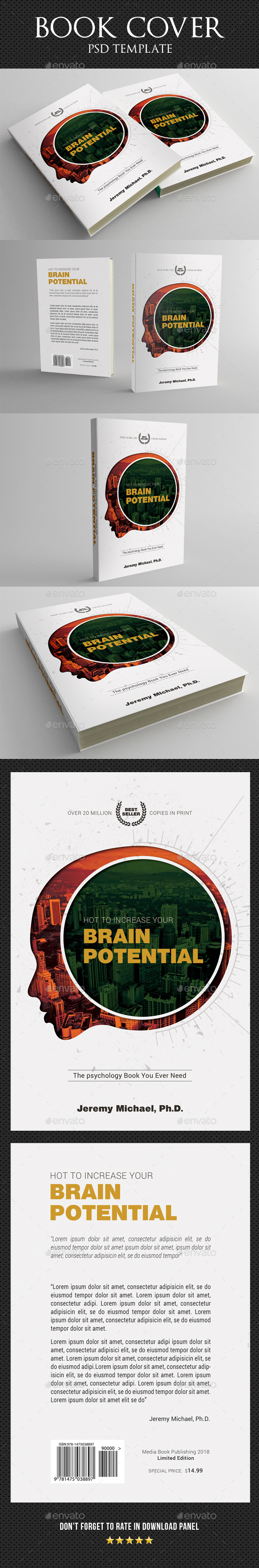 Book Cover Template 48 - Miscellaneous Print Templates