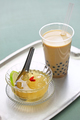 bubble tea and aiyu jelly, Taiwanese drink and dessert - PhotoDune Item for Sale