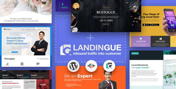 Landingue - Landing and One Page Builder Plugin for WordPress Site | Prosyscom Tech 1