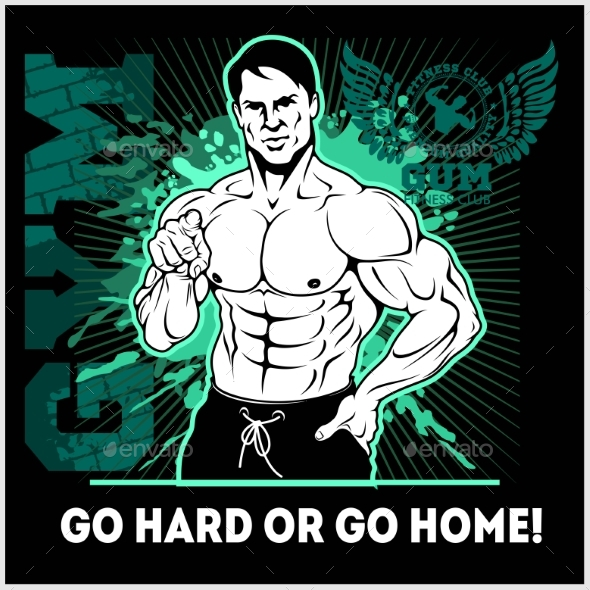 Train Hard or Go Home Motivational Quote - Sports/Activity Conceptual