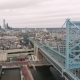 Aerial of the Ben Franklin Bridge in Philadelphia, Pennsylvania - VideoHive Item for Sale