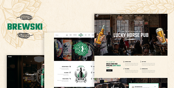 Brewski – A Pub and Brewery WordPress Theme