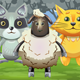 Raccoon, Sheep and Cat Characters for 2D Jumping Game