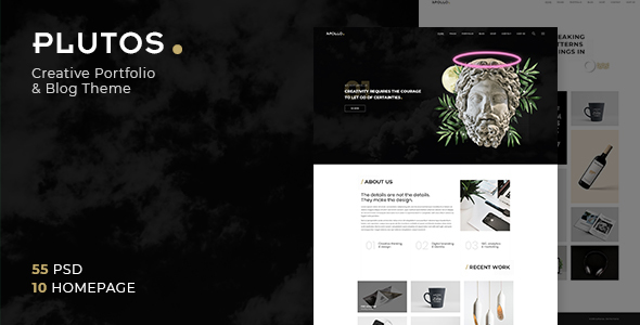 Plutos - Multipurpose Creative Portfolio & Blog PSD Template - Portfolio Creative