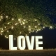 Big White Love Light Letters - VideoHive Item for Sale