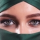 Portrait of an Arabic Young Woman with Her Beautiful Eyes in Traditional Islamic Cloth Niqab - VideoHive Item for Sale