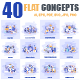 Flat Concepts with People - GraphicRiver Item for Sale