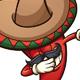 Dabbing Mexican Chili Pepper