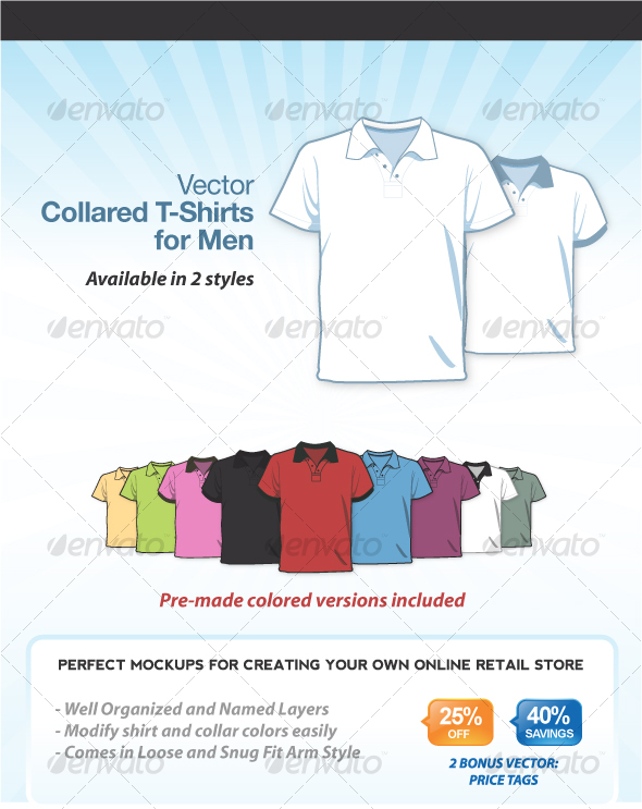 Collared T-Shirts for Men - Retail Commercial / Shopping