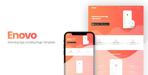 Enovo | App Landing Page Template - Apps Technology