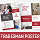 A4 Tradesman Poster/Advertisement Templates - GraphicRiver Item for Sale