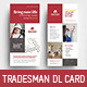 Tradesman DL Rack Card Template - GraphicRiver Item for Sale