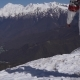 A Snowboarder Walking in the Mountains - VideoHive Item for Sale