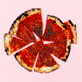 Pizza Art. Pizza lover.  Flat lay minimal - PhotoDune Item for Sale