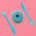 Donut lover. Flat lay. Sweet candy minimal art - PhotoDune Item for Sale