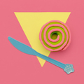 Creative Donut. Flat lay. Sweet candy minimal art - PhotoDune Item for Sale
