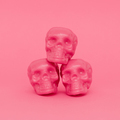 Pink Mood. Skull. Pink colours trend. Fashion minimal art - PhotoDune Item for Sale