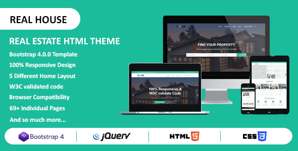 Real House - Real Estate HTML Template - Retail Site Templates