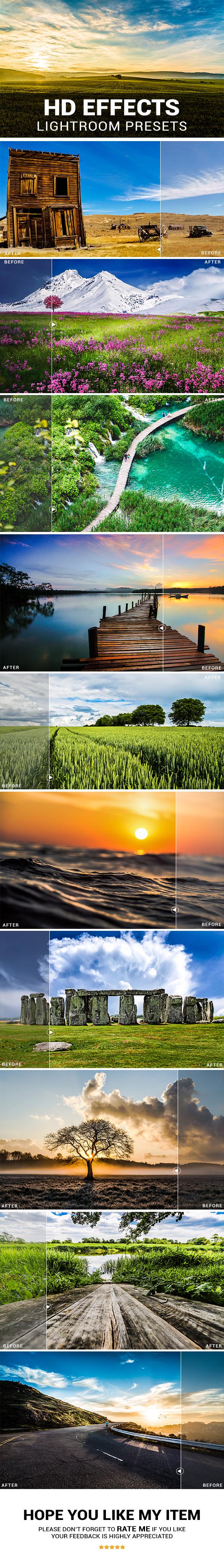 20 HD Effects Lightroom Presets - HDR Lightroom Presets