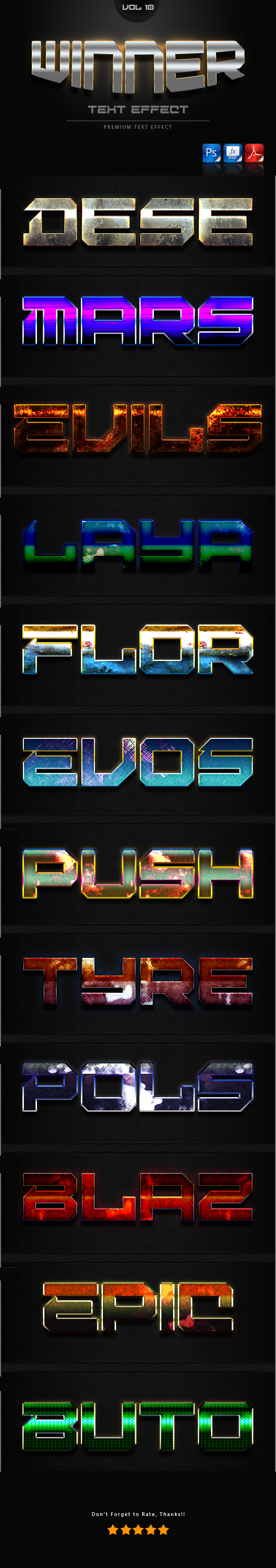 Winner Text Effect Styles Vol 10 - Text Effects Styles