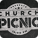Rustic Chalkboard Church Picnic Flyer Print Template