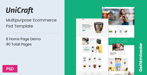 UniCraft - Multipurpose Ecommerce psd Template - PSD Templates