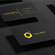 Black-Gold Business Card Mock-up