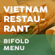 Vietnamese Restaurant Bifold / Halffold Menu 4 - GraphicRiver Item for Sale