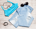 Casual style women summer outfit - PhotoDune Item for Sale