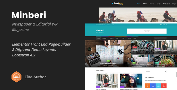 Minberi - Newspaper & Editorial WordPress Theme - News / Editorial Blog / Magazine