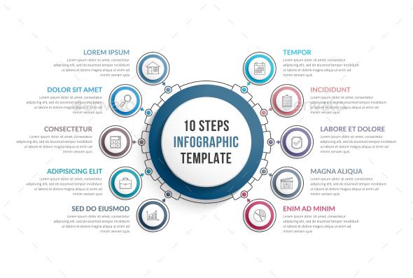 10 Steps Infographics - Infographics