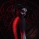 Demoness with Big Horns Bends Her Back against the Background of the Pentagram - VideoHive Item for Sale