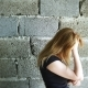 Desperate Unhappy Woman By the Wall. , the Concept of Stress and Hopeless - VideoHive Item for Sale