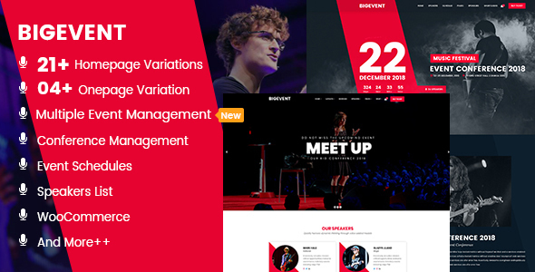 Image of BigEvent- Conference Event WordPress Theme