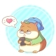 Cartoon Hipster Hamster with Phone Love - GraphicRiver Item for Sale