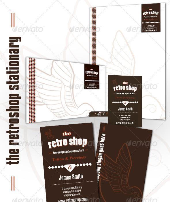 Retro Shop Stationary  - Stationery Print Templates