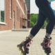 Young Woman Eenjoys Rollerblading on a City Street - VideoHive Item for Sale